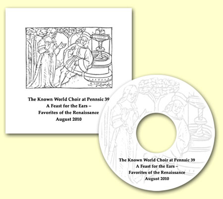 CD cover - SCA Known World Choir at Pennsic 39