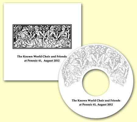 CD cover - SCA Known World Choir at Pennsic 41