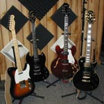 image of the electric guitars